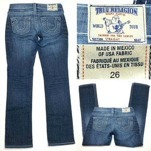 True Religion Straight Natural Big T Womens Jeans